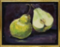 Зелёные груши | фрукты | Ирина Сергеева | Irina Sergeeva | Still life | Натюрморт | art.vin | Artmagic | Артмагия