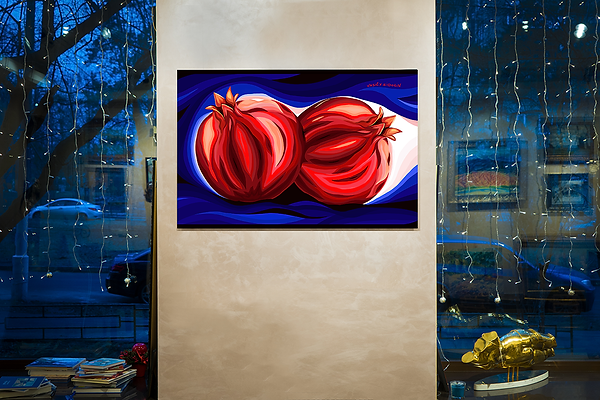 два граната | в интерьере   | Василий Сидорин | Artmagic | Артмагия | art.vin