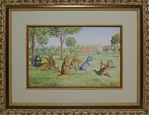 Egg and spoon race | Louis Wain | Cat | Котики | art.vin | Artmagic | Артмагия