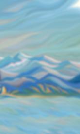 МОНЕ ОТДЫХАЕТ отрывок | Василий Сидорин | Волнизм | Купить пейзаж | купить картину в москве