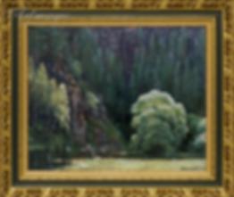 Река под скалой | пейзаж | Алексей Петриков | Alex Petrikov | Landscape | пейзаж | природа | art.vin | Artmagic | Артмагия