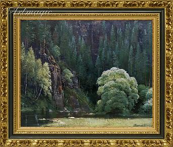 река под скалой | речка | Алексей Петриков | Alex Petrikov | Landscape | пейзаж | природа | art.vin | Artmagic | Артмагия