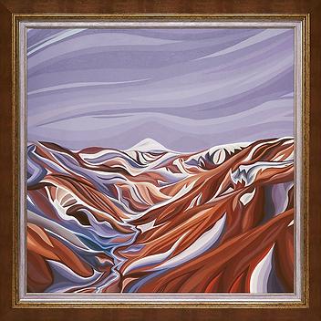 Горы Исландии Летом | Василий Сидорин | Волнизм | Купить пейзаж | купить картину в москве