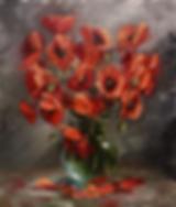 Маки в стекле | Анна Никифорова | купить картину маслом | натюрморт | натюрморт купить | купить картину в Москве | Артмагия | Artmagic | art.vin
