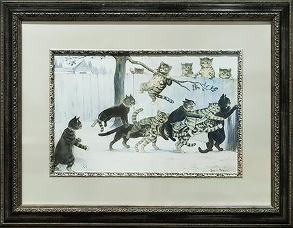 В игре | Louis Wain | Cat | Котики | art.vin | Artmagic | Артмагия