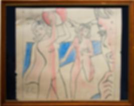 Волейболистки | набросок | Рой Лихтенштейн | Roy Lichtenstein | Cuite | Милашки | art.vin | Artmagic | Артмагия