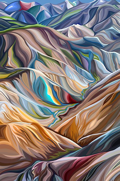 Василий Сидорин | горы Исландии | купить картину в Москве | art.vin | в интерьере