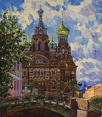 спас на крови | церкви Петербурга | Дмитрий Сысоев | Dmitry Sysoev | Landscape | пейзаж | art.vin | Artmagic | Артмагия