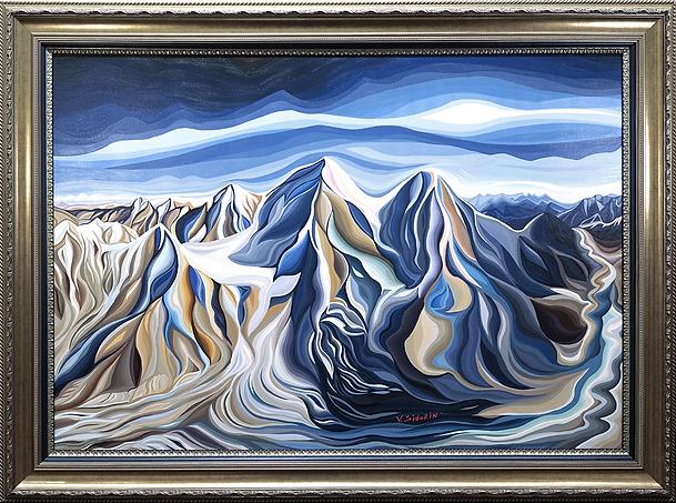 Ледник | Василий Сидорин | Волнизм | Купить пейзаж | купить картину в москве