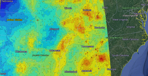PM2.5 from satellite over Midwestern US mapped