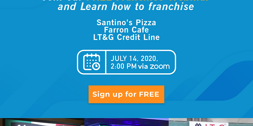 Franchise Discovery Day with Farron Cafe, Santino's Pizza, and LT&G Micro-lending