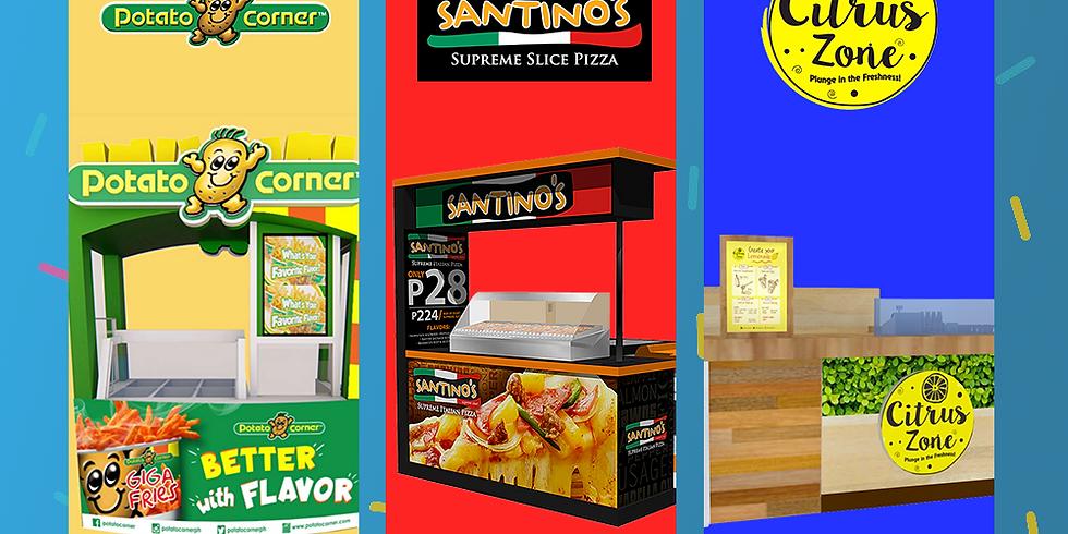 Franchise Cart/Kiosk Festival: Potato Corner, Citrus Zone and Santino's Pizza and more!