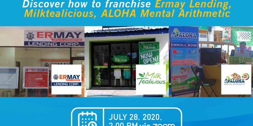 Franchise Webinar - Ermay Lending, Aloha Mental Arithmetic, Milk Tealicious
