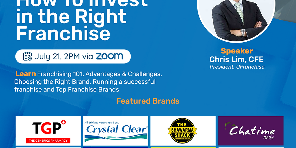 How To Invest in the Right Franchise Webinar with The Generics Pharmacy, Beanleaf and other Top Franchise Brands