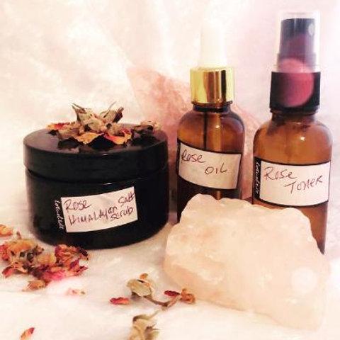 Himalayan Rose Face Exfoliate, Toner & Face Oil