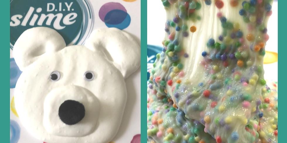 Fluffy Polar Bear Slime & Floam Workshop