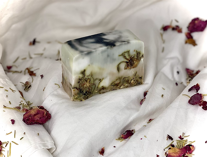 Rose and rosemary marble bar