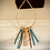 Thumbnail: Turquoise and gold leather set