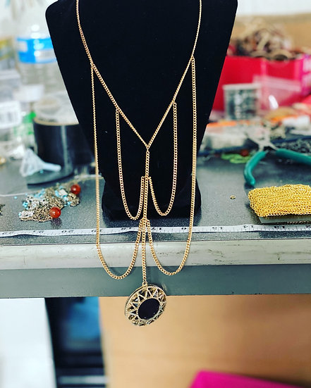 Beautiful gold long necklace