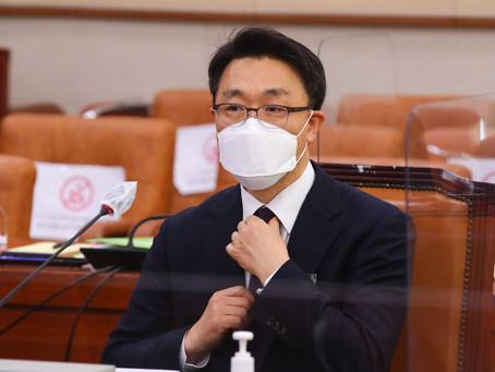 """""""윤석열, 공수처 1호인가"""" 질문에 김진욱 """"정치적 고려 않겠다"""""""