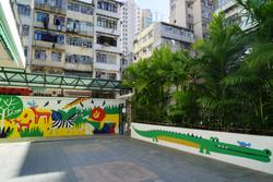 油麻地中華基督教會灣仔堂基道小學ral wall painting