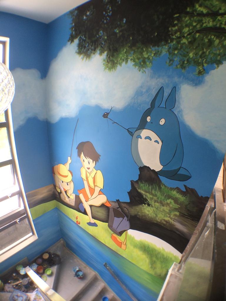 元朗私人村屋室內壁畫