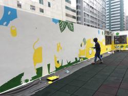 香港小童群益會樂緻幼稚園(灣仔) 外牆壁畫