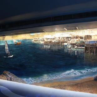 海洋公園尋鯊探秘館大澳棚屋壁畫