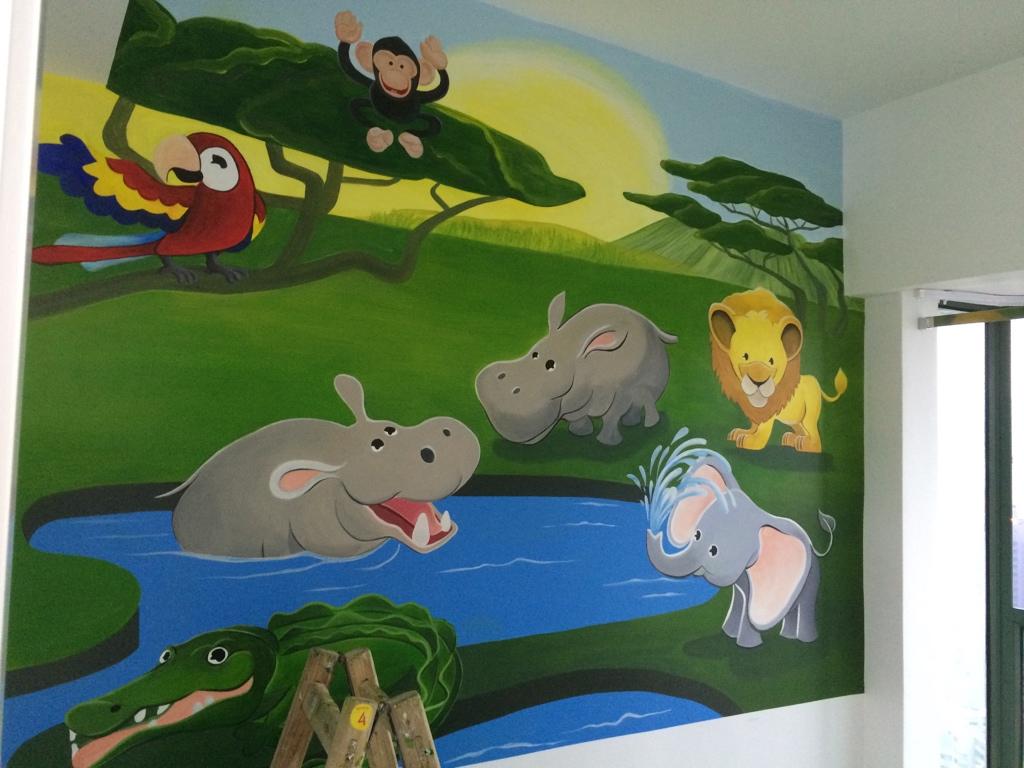 奧海城私人住宅壁畫