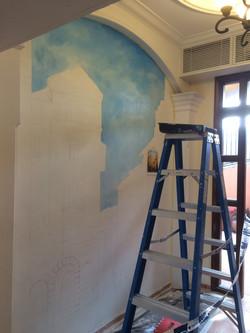 灣仔東山台壁畫翻新工程