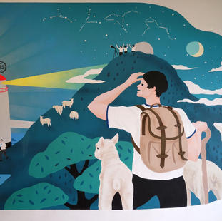 香港仔工業學校校舍壁畫