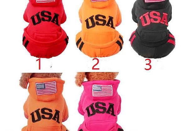 ★新作★人気USA犬服★ペット用品★全5色b(XS-XXL)