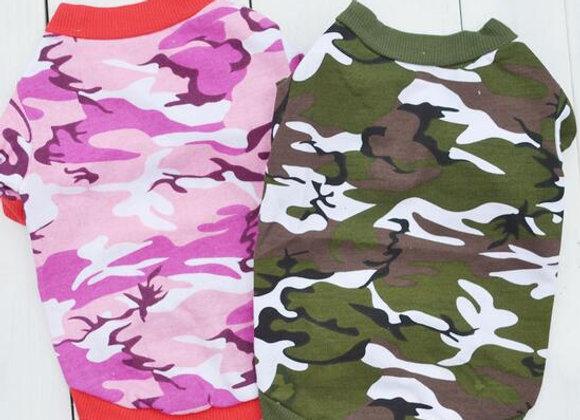 ★カモフラ★Tシャツ★犬服★ペット用品 全2色