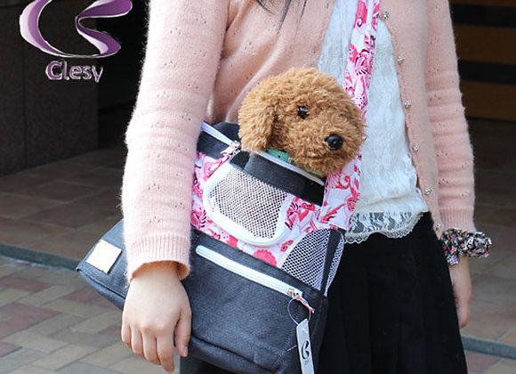 ★ペット用品★デニムとフラワープリントのペットスリング メロディ(MELODY)Clesy