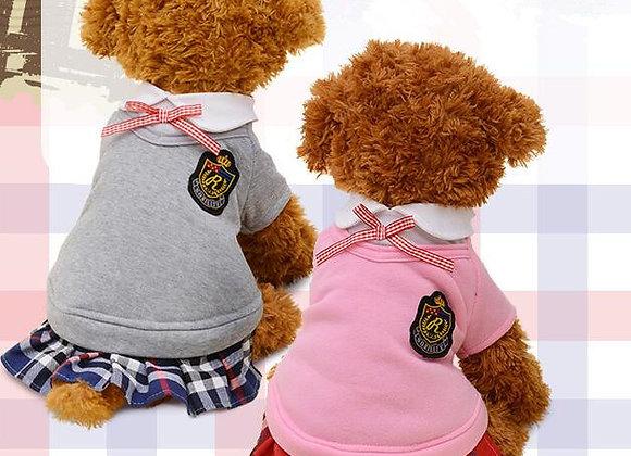 ★可愛いワンピース★人気の犬服★ペア服★ペット用品★全4色 (XS-XL)