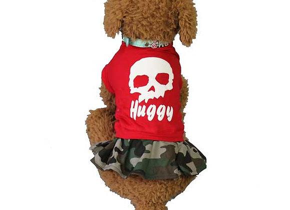★ドクロと迷彩のワンピース★ハギーバディーズ(Huggy Buddy's)★ペット用品★全2色(S-XL)