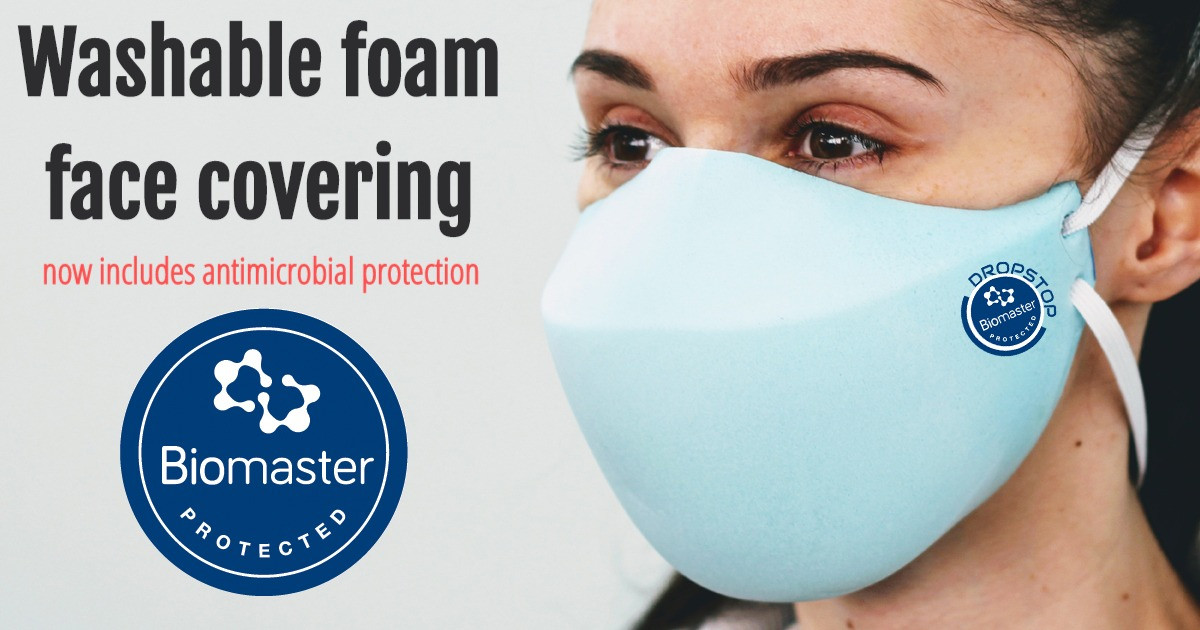 Antimicrobial face covering