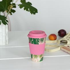 MUG CAFÉ PALMERA TROPICAL