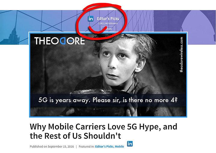 5G, 4G, fixed wireless