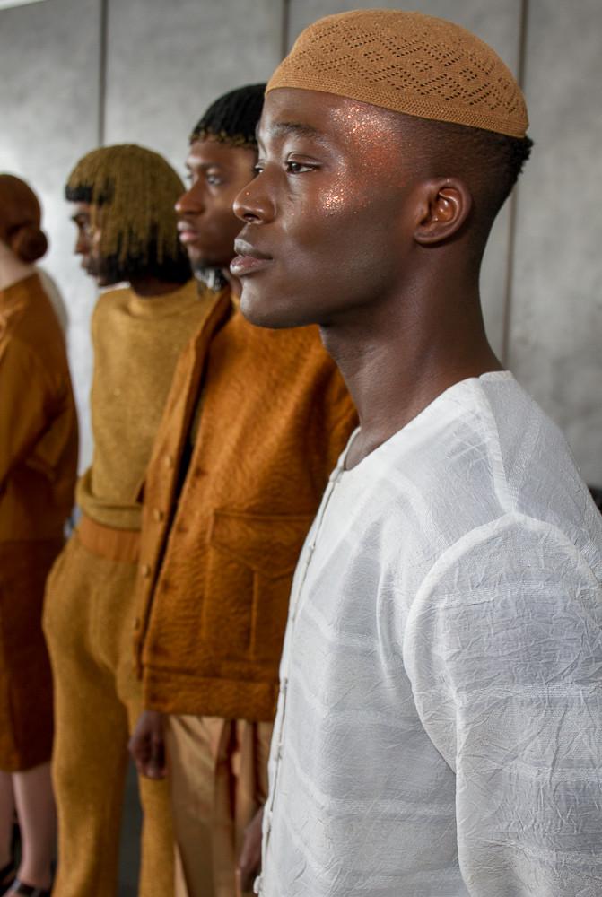 Backstage Lukhanyo Mdingi  Fall 2019