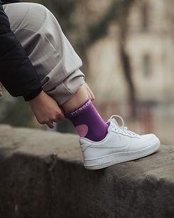 Purple polka dot socks   Egyptian cotton socks   funky socks   novelty socks   fun socks   bright socks   luxury socks   unique socks