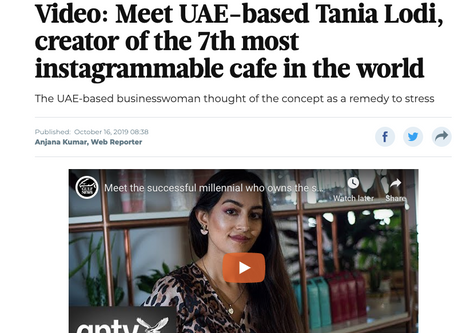 Meet UAE-based Tania Lodi, creator of the 7th most instagrammable cafe in the world