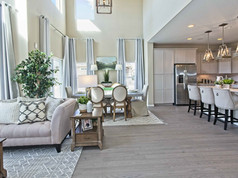 Staged Model Home - Great Room/Dining Room/Kitchen