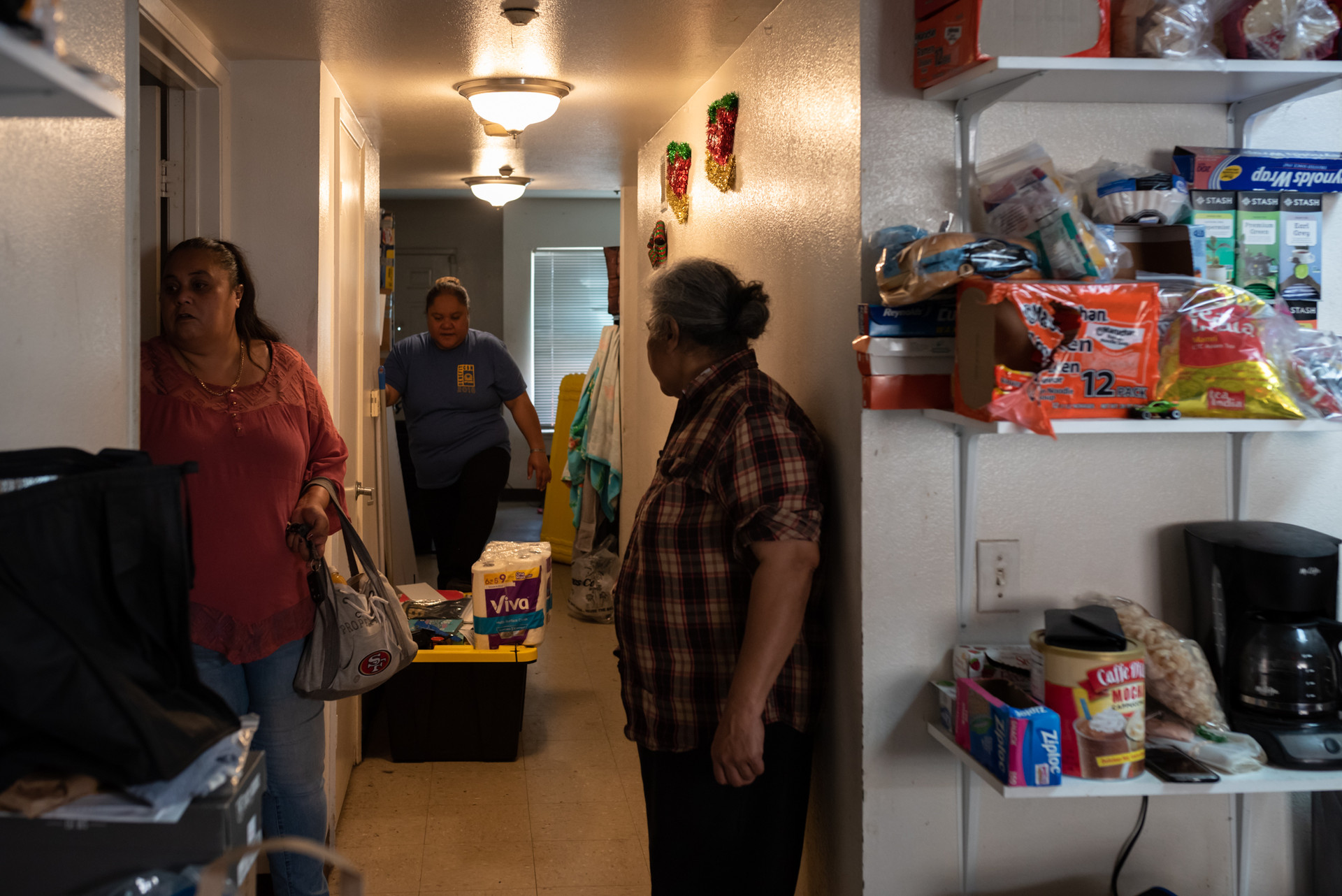 Gaynor lives in public housing with her son, mother, father, and 3 sisters. The community work she does helps connect her with housing opportunities.