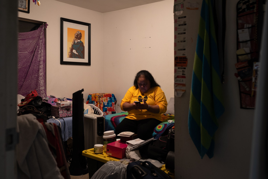 This is the last night Gaynor's family spends in their home of 15 years without having to live out of boxes. Surrounded by the constant disruptions on top of her own medical complications, Gaynor sees helping her family and community as her therapy.