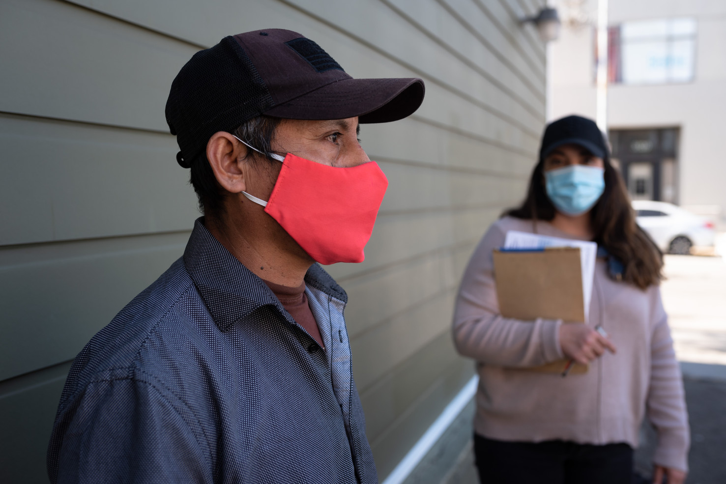 Miguel Garcia Hidalgo, a restaurant cook, caught COVID-19 in the beginning of the pandemic and was eventually furloughed as restuarants shut down. His five roommates including two children all tested postiive and relied on Unidos En Salud assistance for quarantine in hotel rooms and regular food delivery.