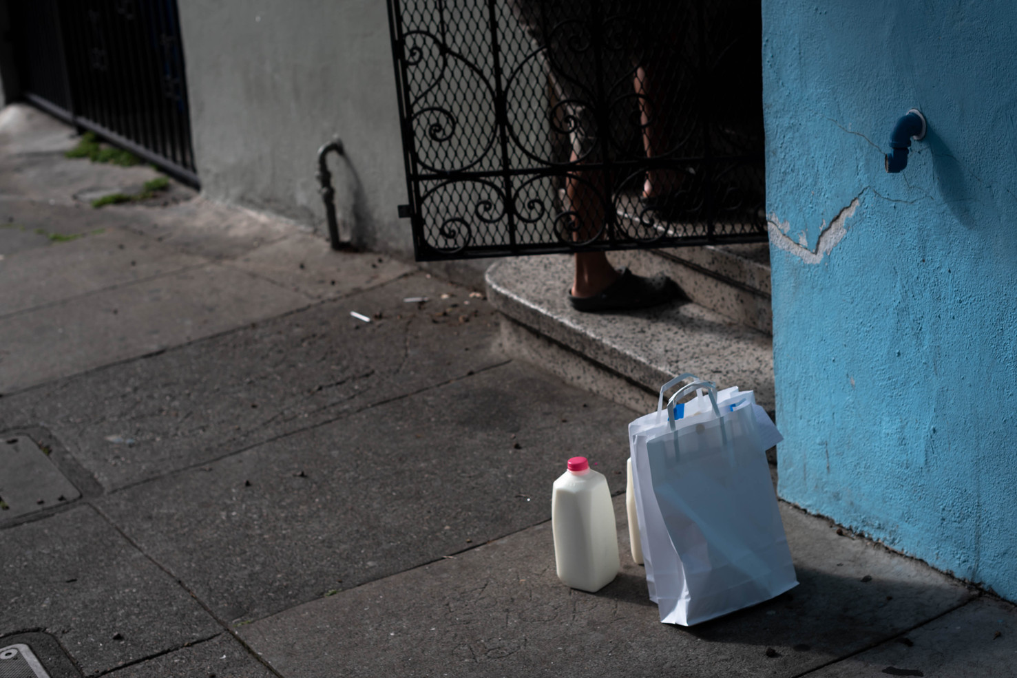 Food is delivered regularly to a Latino Cultural District community member who is tested positive for COVID-19 and under a 2 week quarantine.