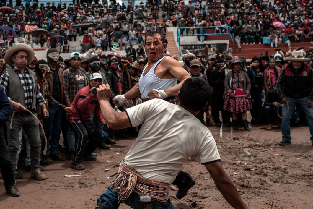 Top fighters from all around the Chumbivilcas region gather during Takanakuy seeking to settle scores with rivals or for glory. A great victory in the fighting pit before thousands could mean a great deal of respect and status the coming year.