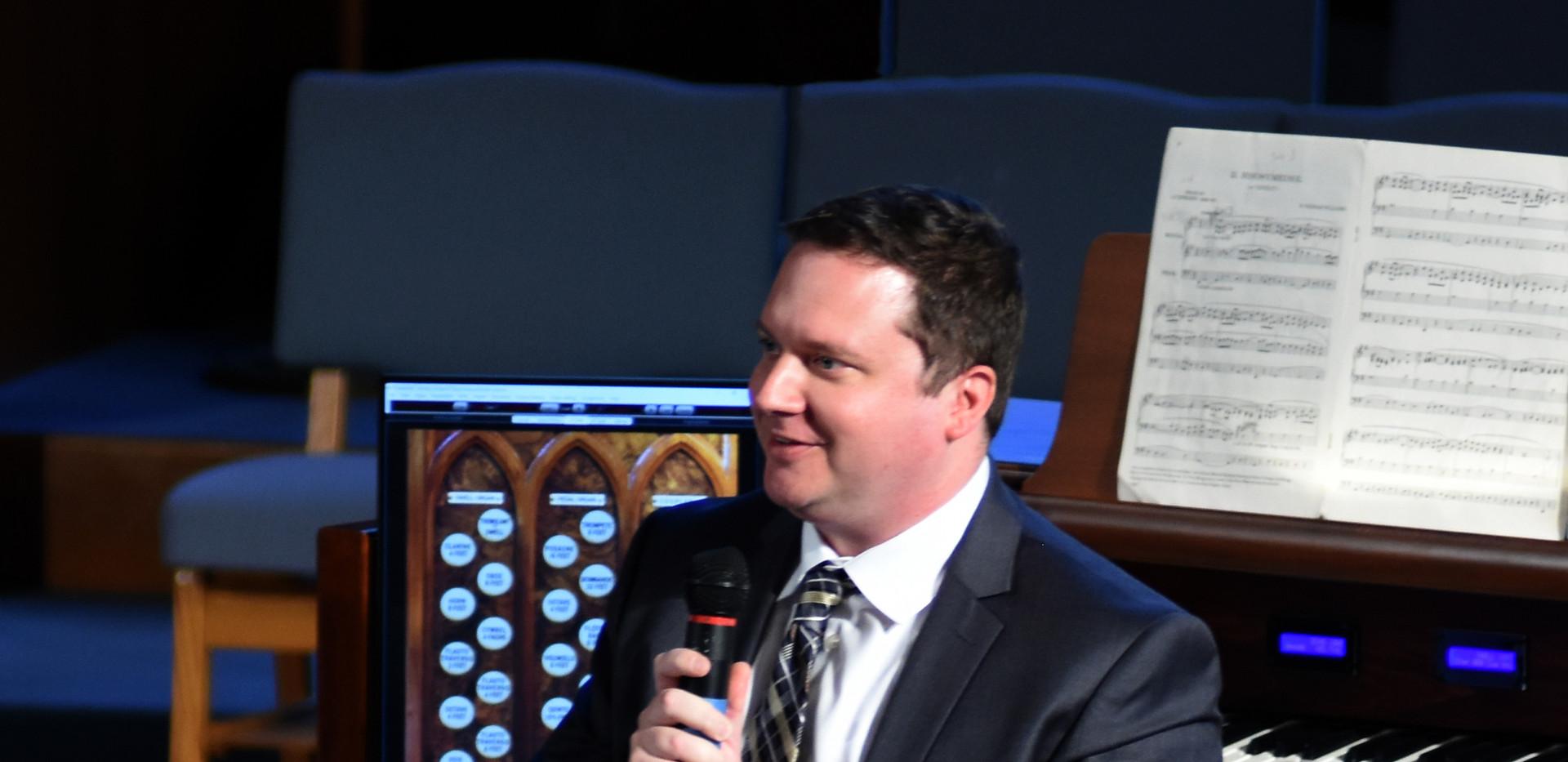 John Allegar at the Dedication Concert