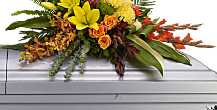 Tropical Tribute Casket Spray